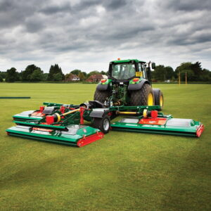 RMX-680 roller mower on a polo pitch