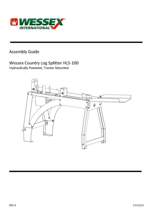 Hls 100 assembly guide page 1 - professional groundcare & agricultural equipment