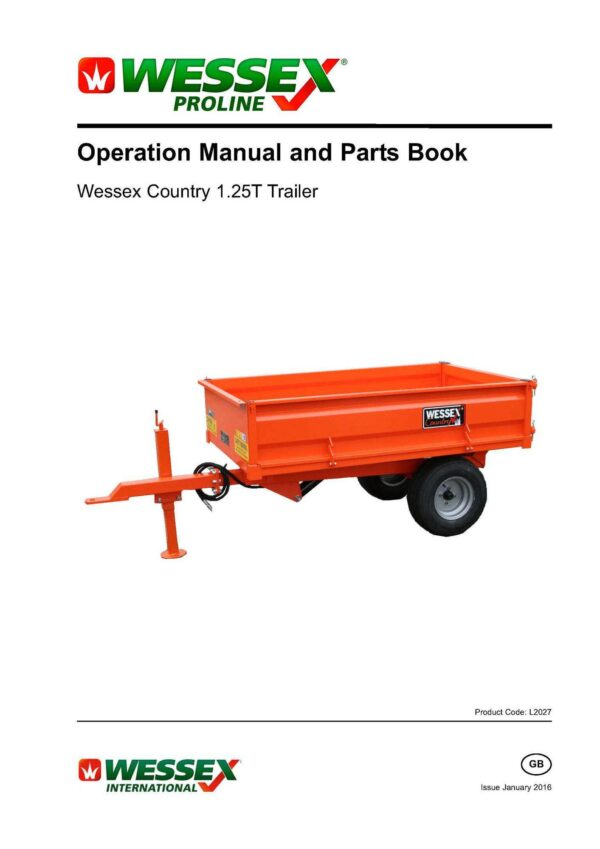 L2027 country trailer 1. 25t page 01 - professional groundcare & agricultural equipment