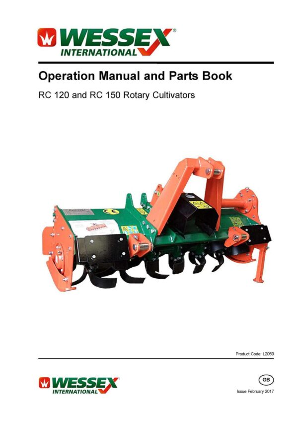 L2059 rc120 rc150 cultivators page 01 - professional groundcare & agricultural equipment