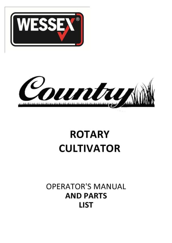 Rc100 120 rotary cultivator page 01 - professional groundcare & agricultural equipment