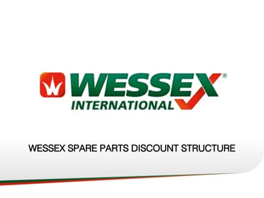 Spare parts discount structure - professional groundcare & agricultural equipment