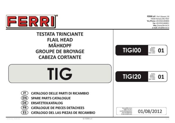 Tig 100 120 page 01 - professional groundcare & agricultural equipment