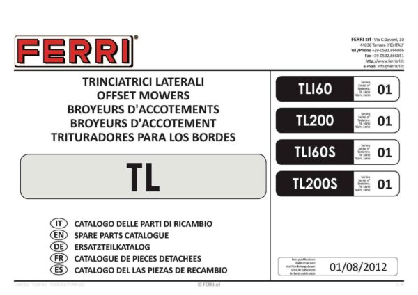 Tl160 200 page 01 - professional groundcare & agricultural equipment