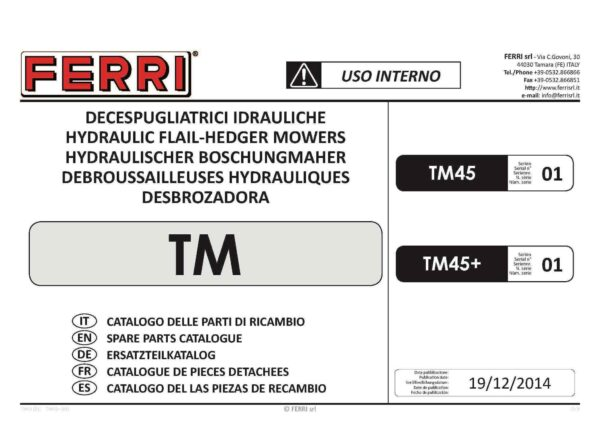 Tm45 serie 01 page 01 - professional groundcare & agricultural equipment