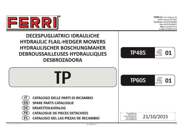 Tp48 tp60 sx01 page 01 - professional groundcare & agricultural equipment