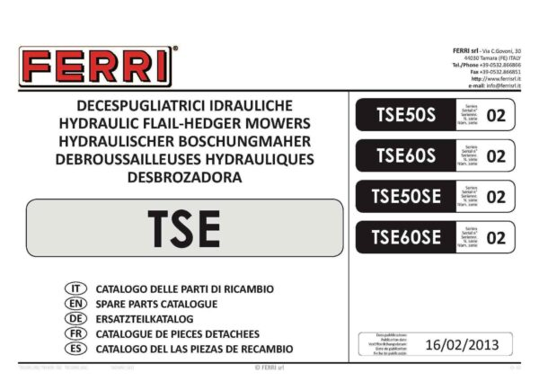 Tse60 sx02 page 01 - professional groundcare & agricultural equipment