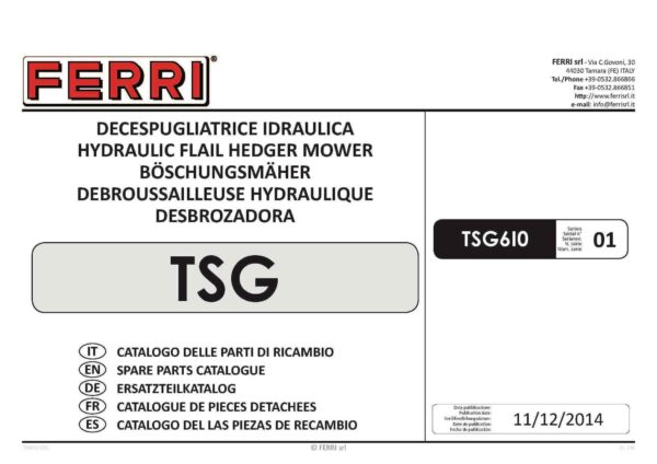 Tsg610 page 01 - professional groundcare & agricultural equipment