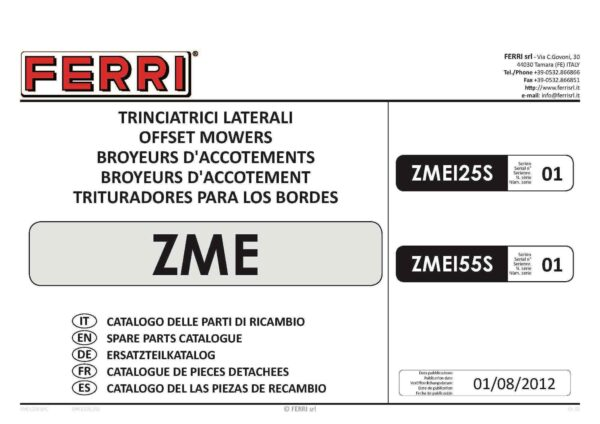 Zme125 155 lh page 01 - professional groundcare & agricultural equipment