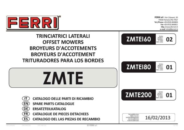 Zmte200 serie 01 page 01 - professional groundcare & agricultural equipment