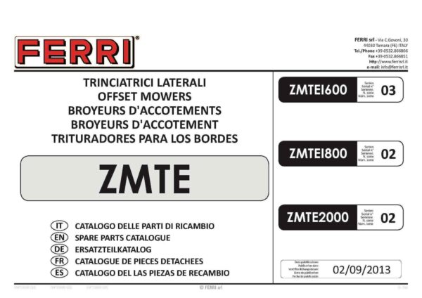 Zmte2000 parts page 01 - professional groundcare & agricultural equipment