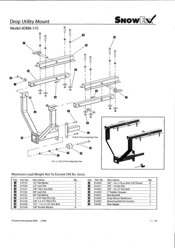 Drm 175 diagram instuctions - professional groundcare & agricultural equipment