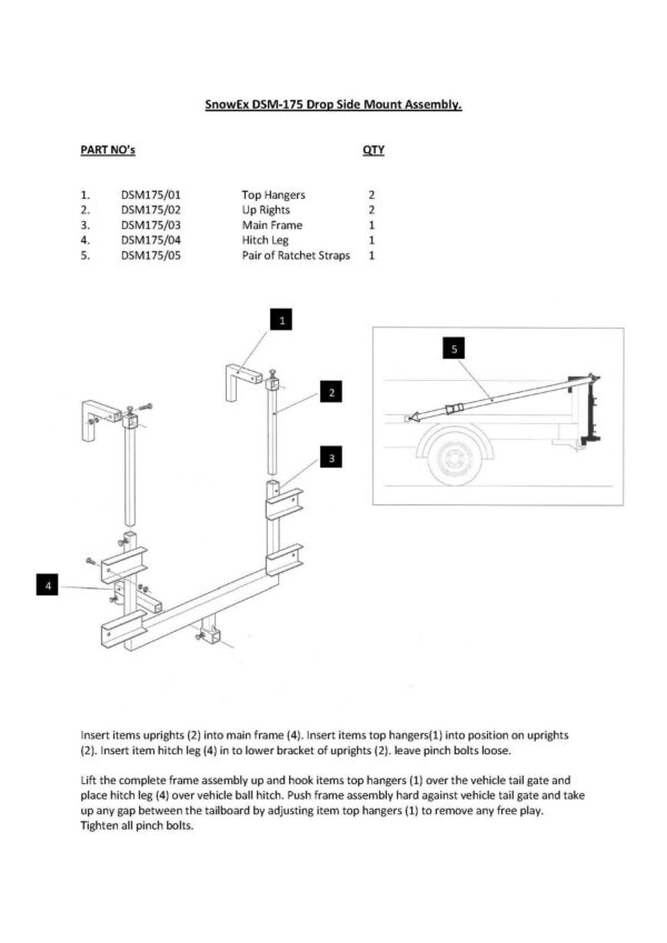 Dsm 175 hitch manual - professional groundcare & agricultural equipment